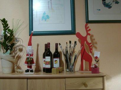 Der Wein ist alkohlfrei und kommt von Anke, Elch und Schwindsucht-Santa von Susi. Dankeschön! :)